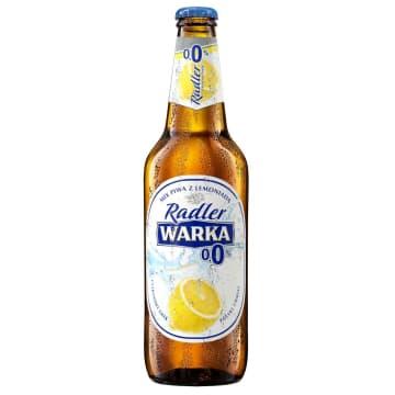 Warka Radler Cytryna - bezalkoholowe piwo w butelce. Orzeźwia w upalne dni.