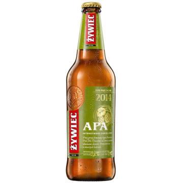 Piwo - Żywiec Apa. Intensywne chmielowe piwo typu Pale Ale z nutą cytrynową.