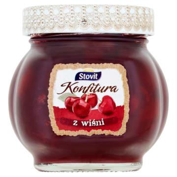 Konfitura wiśniowa Stovit - niskosłodzona, zawiera witaminę C.