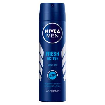 Nivea Men Fresh Active – antyperspirant w sprayu 150 ml. Antyperspirant z ekstraktami morskimi.