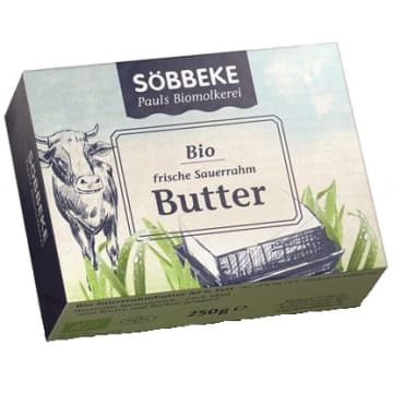 Masło - Sobbeke. Świeże, mleczne BIO masło o 82% zawartości tłuszczu.
