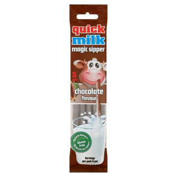 QUICK MILK Rurki do picia mleka czekoladowe 5szt. 30g