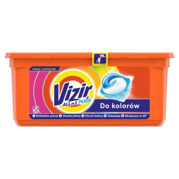 VIZIR COLOR Kapsułki do prania tkanin białych i kolorowych 28 szt. 1szt