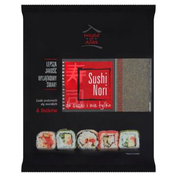 Liście alg morskich Sushi Nori, 6 szt - House of Asia. Podstawa do przygotowania sushi.