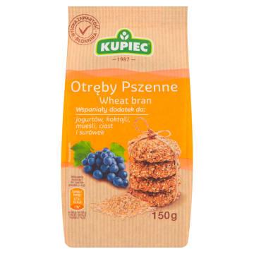 Kupiec - Otręby pszenne 150g. Zawierają wiele potrzebnych witamin.