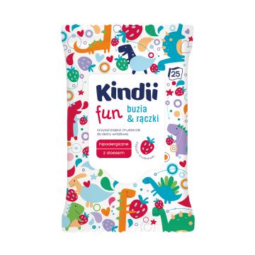 KINDII Fun Chusteczki dla dzieci buzia&rączki 25 szt. 1szt