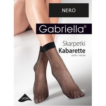GABRIELLA Skarpetki Kabarette, kolor Nero 1szt