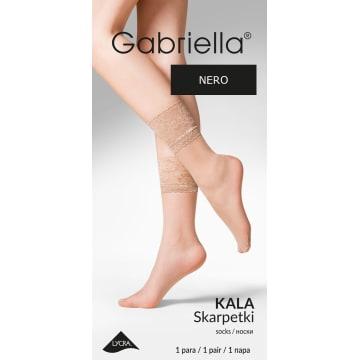 GABRIELLA Skarpetki z koronką Kala, kolor Nero 1szt