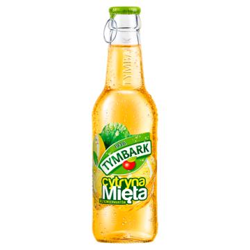 Tymbark Napój owocowy mięta cytryna to wygodny i orzeźwiający napój w szklanej butelce.