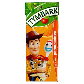 Tymbark-Sok pomarańcza 100 %. Naturalny sok z dodatkiem witaminy C.