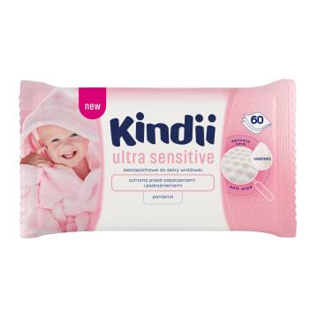 Chusteczki dla dzieci i niemowląt Baby Sensitive - Cleanic Kindii. Dokładnie oczyszczają skórę.