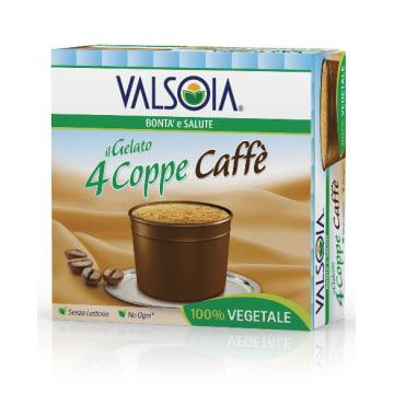 Lody sojowe w kubeczku kawa – Valsoia. Wyborny sojowy deser o smaku kawy.