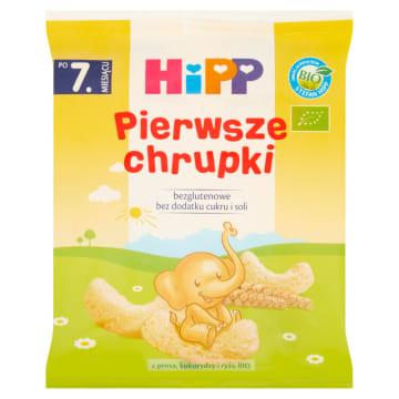 Pierwsze Chrupki - Hipp. Wytworzone w 100% z ekologicznego prosa oraz z kukurydzy.