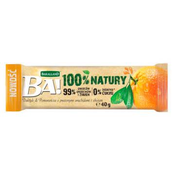 BAKALLAND BA! Baton daktyle & pomarańcza z prażonymi arachidami i zbożem 40g