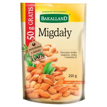 BAKALLAND Migdały +50g GRATIS 200g