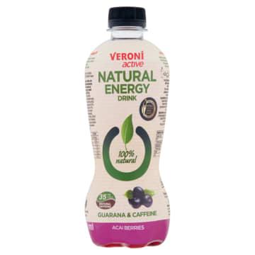 VERONI ACTIVE Natural Energy Drink Napój gazowany energetyzujący jagody acai 400ml