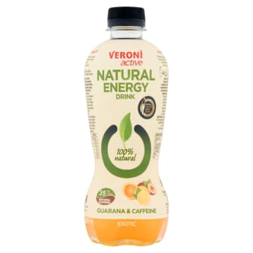VERONI ACTIVE Natural Energy Drink Napój gazowany energetyzujący exotic 400ml