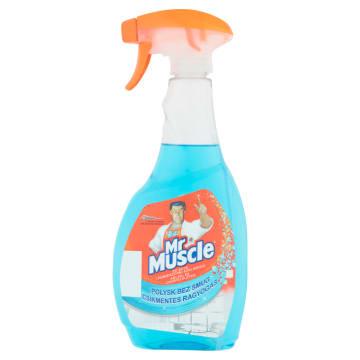 Niebieski płyn do mycia szyb – Mr Muscle z amoniakiem dokładnie czyści szklane powierzchnie