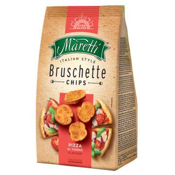 Bruschetta to przekąska o smaku pizzy, która zawiera dodatek soli morskiej.