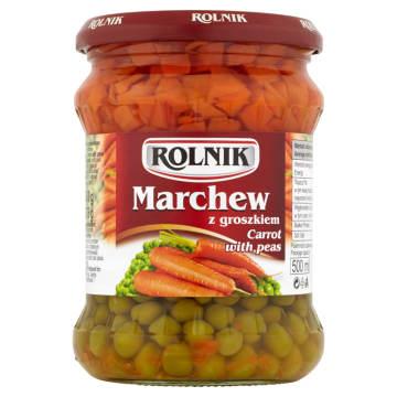 Rolnik Marchew z groszkiem Standard to doskonała baza do domowych sałatek.