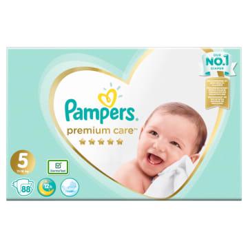 Pieluchy Jednorazowe-Pampers Premium  Care. Zapewmiają pięciogwiazdkową ochronę skóry dziecka.