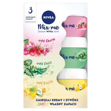 NIVEA Soft Mix me zestaw 3x50 ml 150ml