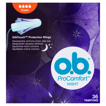 O.B.® ProComfort Night Tampony Super 36 szt. 1 szt