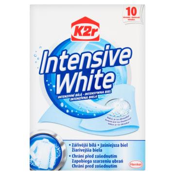 K2R Intensive White Chusteczki do prania 10 szt. 1szt