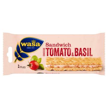 Wasa – Sandwich Kanapka z serkiem, pomidorem i bazylią to aromatyczne pieczywo kanapkowe.