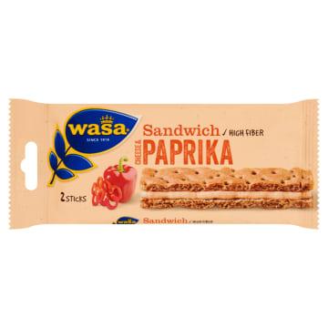Sandwich Kanapka z serkiem i papryką – Wasa. Delikatne i chrupiące pieczywo.