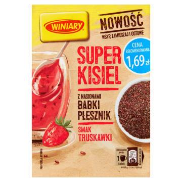 WINIARY Super Kisiel Truskawkowy z Babką Płesznik 27g