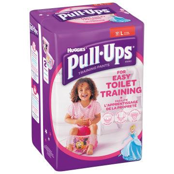 HUGGIES Pull-Ups XL Majteczki treningowe dla dziewczynek 16-23 kg 12 szt. 1szt