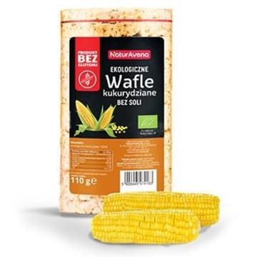 Wafle kukurydziane bez soli - Bioavena