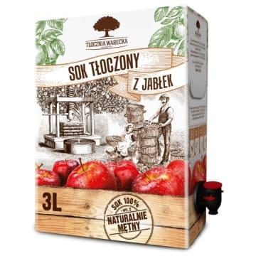 TŁOCZNIA WARECKA Sok tłoczony z jabłek 3l