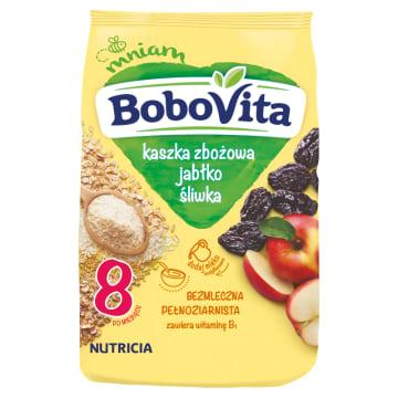 Kaszka 7 zbóż – Bobovita. Bezmleczna kaszka 7 zbóż z jabłkami i śliwkami.