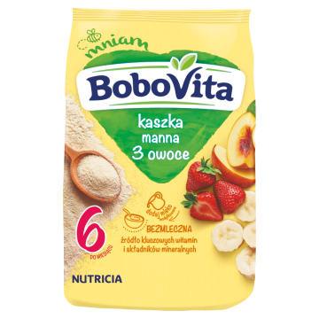 Kaszka manna owocowa - Bobovita to źródło wielu witamin i składników odżywczych.