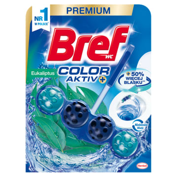 Bref Blue Aktiv - zawieszka do WC o zapachu eukaliptusowym - świeżość w Twojej toalecie