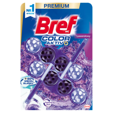 BREF Color Aktiv Zawieszka do WC - Lawendowy 2x50g 1szt