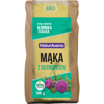 NATURAVENA Mąka z ostropestu BIO 500g