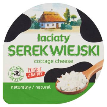 Naturalny wiejski serek - Łaciaty . Doskonałe źródło białka.