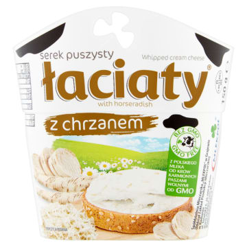 Serek puszysty z chrzanem - Łaciaty. Idealny składnik do stworzenia wyjątkowych kanapek.