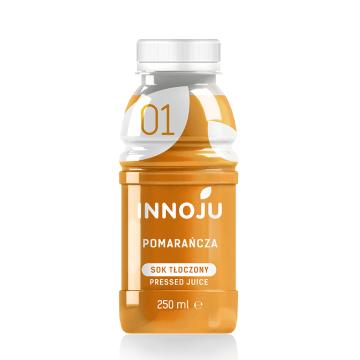 INNOJU Sok naturalnie mętny 100% z pomarańczy 250ml
