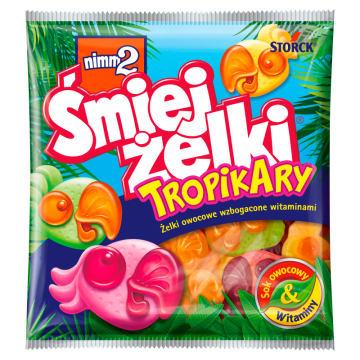 NIMM2 Śmiejżelki Tropikary Żelki owocowe wzbogacone witaminami 90g