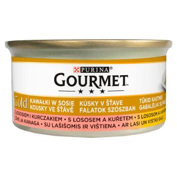 Pokarm dla kota łosoś i kurczak w sosie Gourmet Gold - zbilansowana i wartościowa karma.