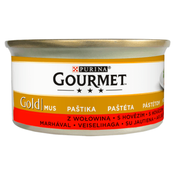 Pokarm dla kotów w puszce - Gourmet Gold. Pysnzy i pożywny posiłek dla pupilów.