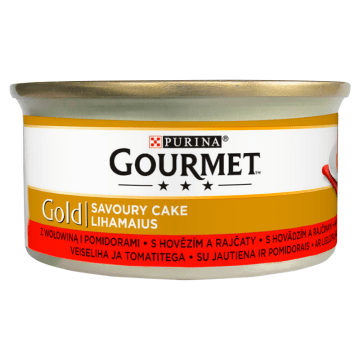Karma dla kotów z wołowiną i pomidorami - Gourmet pozwala zachować zdrowie pupila.