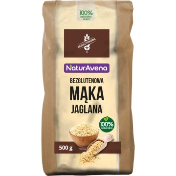 NATURAVENA Mąka jaglana bezglutenowa 500g