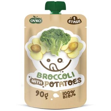 OVKO Przecier brokuły, ziemniaki bez cukru - po 6 miesiącu BIO 90g