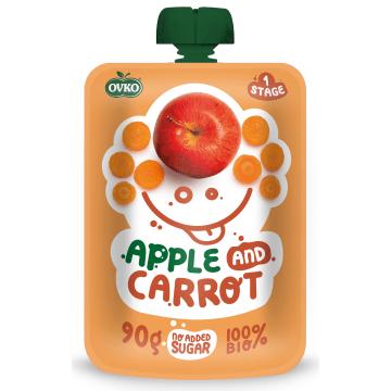 OVKO Przecier jabłko, marchew bez cukru - po 6 miesiącu BIO 90g