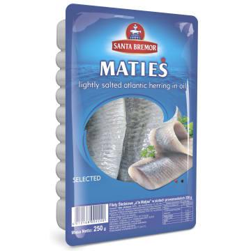 SANTA BREMOR Filety śledziowe a`la Matjas w ziołach prowansalskich 250g